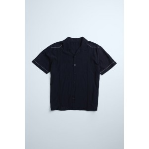 TOPSTITCHING DETAIL SHIRT