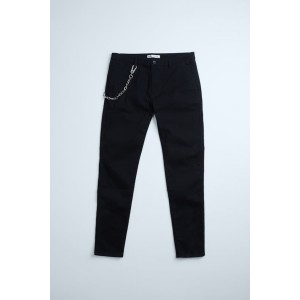 CHAIN TRIM SKINNY PANTS