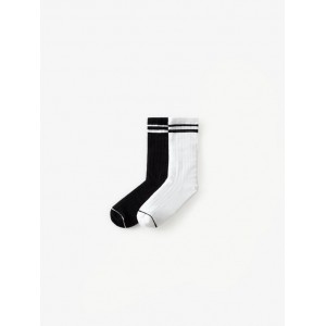 TWO-PACK OF ATHLETIC SOCKS WITH STRIPES