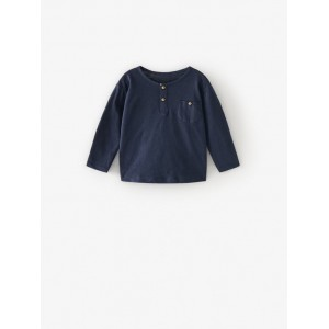 PLAIN HENLEY T-SHIRT