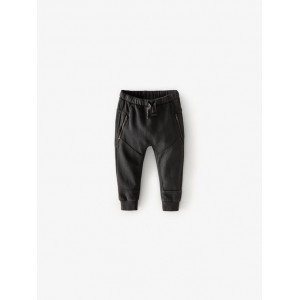 PLUSH PANTS WITH ZIPPERS