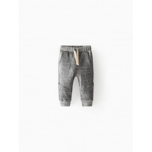 DOUBLE FACED HEATHERED PANTS