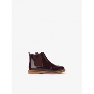 PATENT FINISH CHELSEA BOOTS