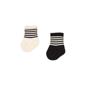 Pack of 2 Black And White Socks