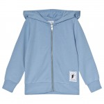 Blue Zip Hoody with Flash Print