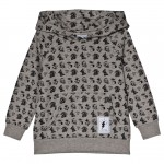 Grey Hoody with Tattoo Print