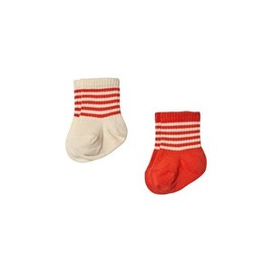Pack of 2 Red and Cream Socks