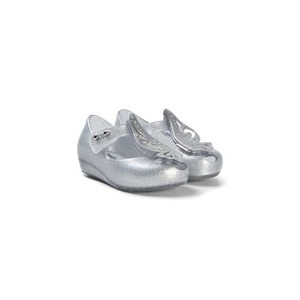Silver Glitter Butterfly Wing Ultragirl Shoes