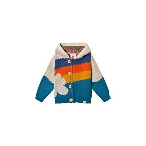 Multicoloured Niji Hooded Cardigan