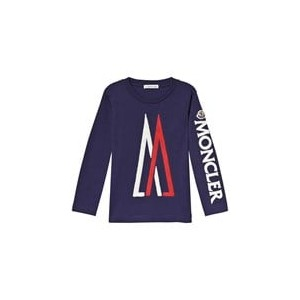 Navy Applique M Maglia Long Sleeve T-Shirt