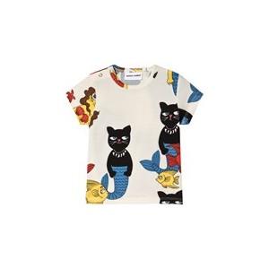 Off-White Short Sleeve Cat Mermaid T-Shirt