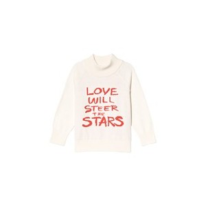 White Love Knitted Sweater