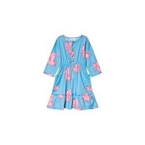 Blue And Pink Pegasus Horse Flounce Dress