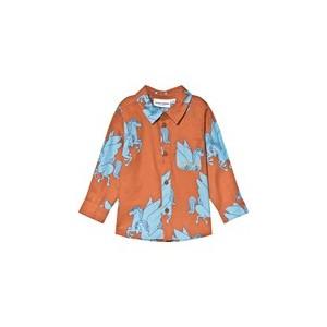 Brown And Blue Pegasus Woven Shirt