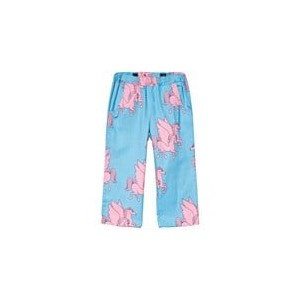 Blue And Pink Pegasus Horse Woven Trousers