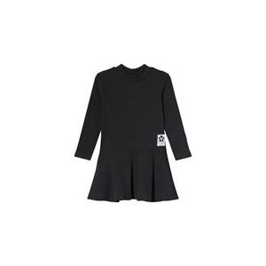 Black Rib Turtleneck Dress