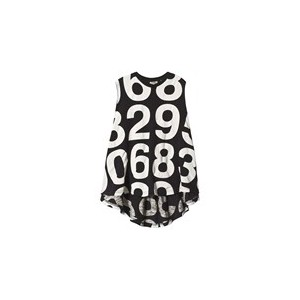 Black 360 Numbers Dress