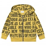 Yellow Alphabet Soup Pedro Hooded Cardigan