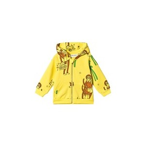 Yellow Cool Monkey Zip Hoodie
