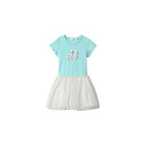 Blue B Print Sequins Detail Tutu Dress
