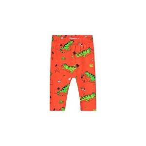 Red Ignacio the Iguana Leggings