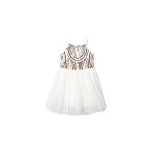 White Tutu Ruffle Detail Strap Dress