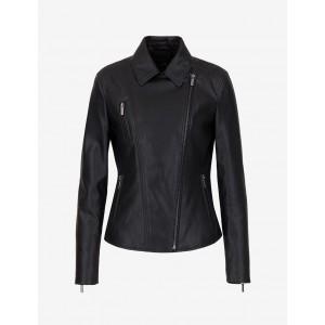 Armani Exchange FAUX LEATHER BIKER JACKET, Blouson Jacket for Women | A|X Online Store