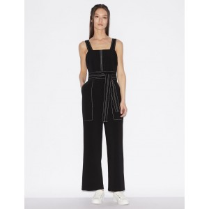 Armani Exchange JUMPSUIT WITH CONTRAST STITCHING, Jumpsuits for Women | A|X Online Store