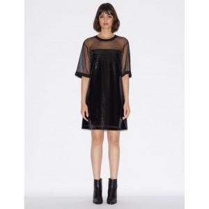 Armani Exchange SEQUIN DRESS, Midi Dress for Women | A|X Online Store