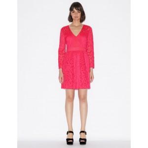 Armani Exchange LASER CUT LACE DRESS, Midi Dress for Women | A|X Online Store