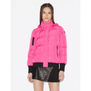 Armani Exchange PADDED JACKET WITH HOOD, PUFFER JACKET for Women | A|X Online Store