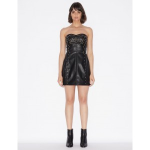 Armani Exchange STRAPLESS DRESS WITH METAL DETAIL, Mini Dress for Women | A|X Online Store