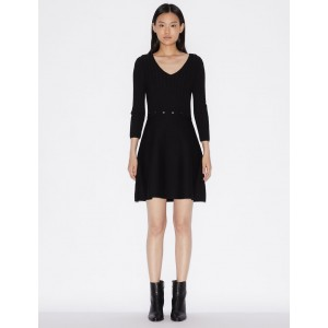 Armani Exchange COTTON AND SPANDEX MINI DRESS, Mini Dress for Women | A|X Online Store