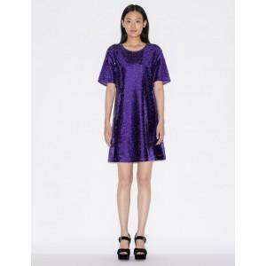 Armani Exchange SEQUINNED MINI DRESS, Midi Dress for Women | A|X Online Store