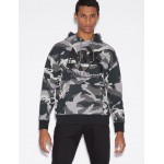 Armani Exchange CAMOUFLAGE SWEATSHIRT WITH HOOD, Hoodie for Men | A|X Online Store