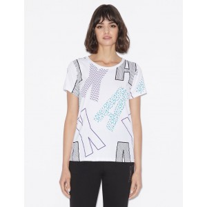 Armani Exchange LOOSE FIT T SHIRT, Graphic T Shirt for Women | A|X Online Store