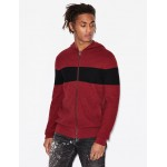 Armani Exchange ZIP UP HOODED KNIT CARDIGAN, Cardigan for Men | A|X Online Store