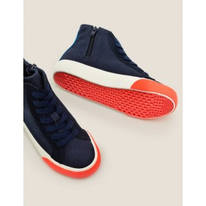Contrast Canvas High Tops - Navy Blue