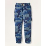 Lined Utility Cargo Pants - College Navy Camouflage