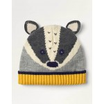 Fun Badger Hat - Grey Marl