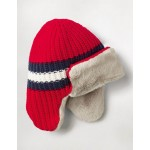 Cosy Trapper Hat - Fire Red
