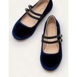 Double Strap Party Shoes - College Navy