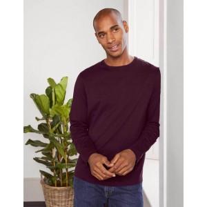 Long Sleeve Washed T-shirt - Dark Aubergine