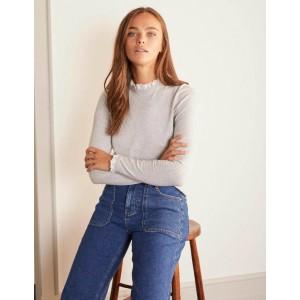 Lincoln Frill Neck sweater - Grey Melange