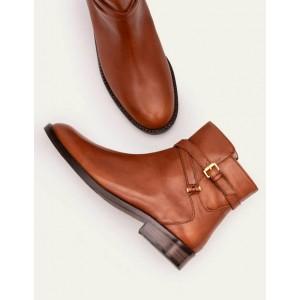 Aldeburgh Ankle Boots - Dark Tan