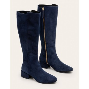 Worcester Knee High Boots - Navy