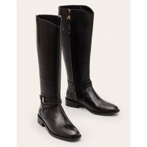 Pembroke Knee High Boots - Black