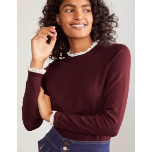 Lincoln Frill Neck sweater - Maroon