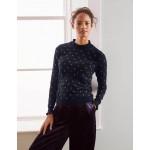 Lara Sparkle Sweater - Navy, Gold Spot