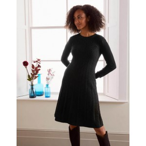 Erica Cable Knitted Dress - Black